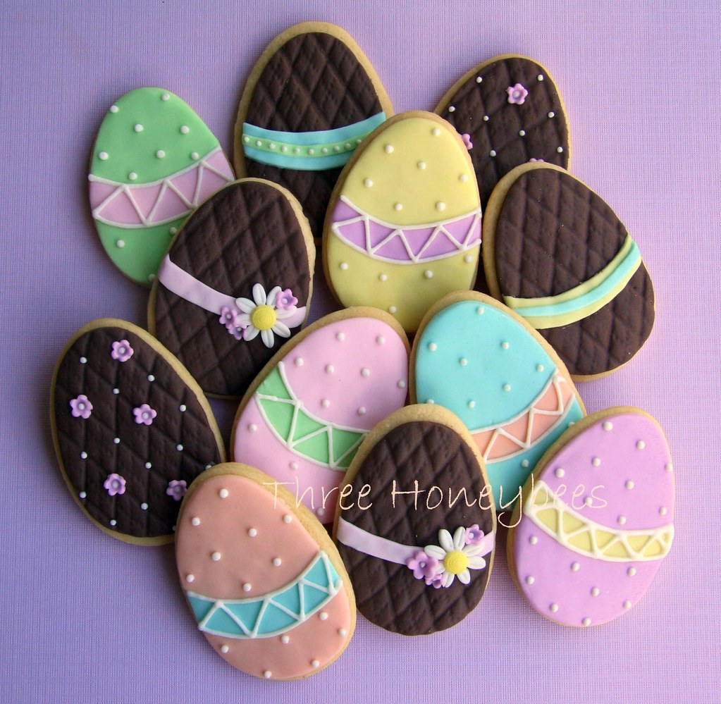 Easter Egg Cookies Chocolate And Pastel Easter Egg Mix