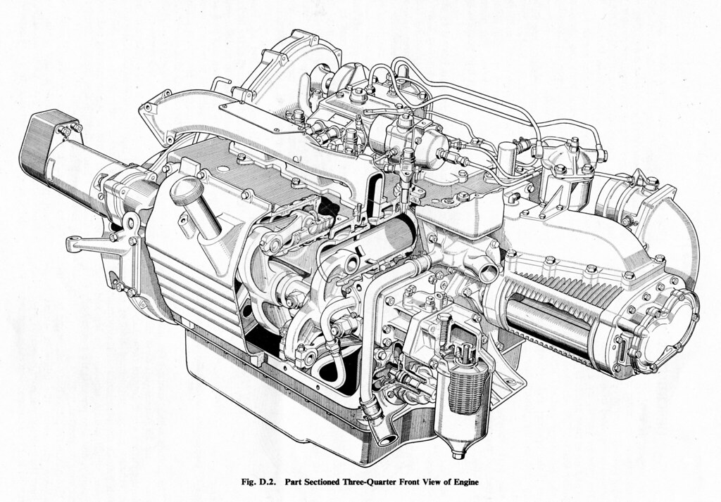 commer ts3 diesel engine 3  4 view
