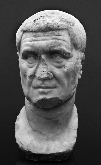 Maximinus Thrax Marble Roman Portrait Probably From A