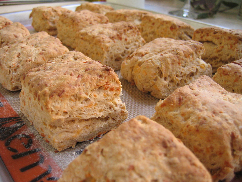 flaky cheddar biscuits | crack it open and slather the butte ...