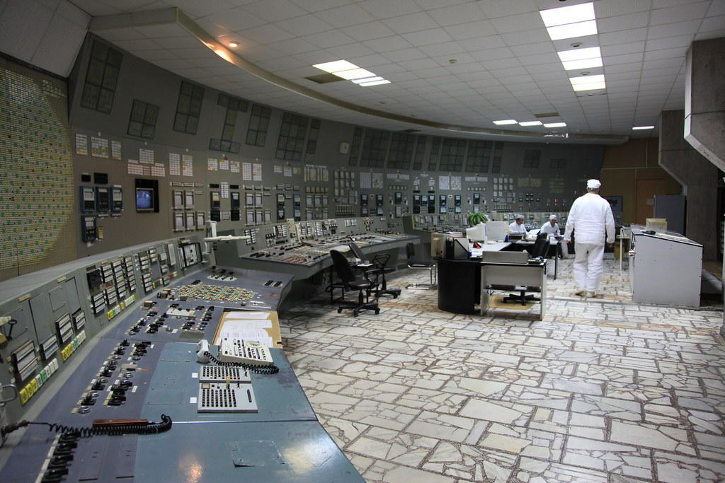 02710152 Interior View Of The Control Room Of Chernobyl