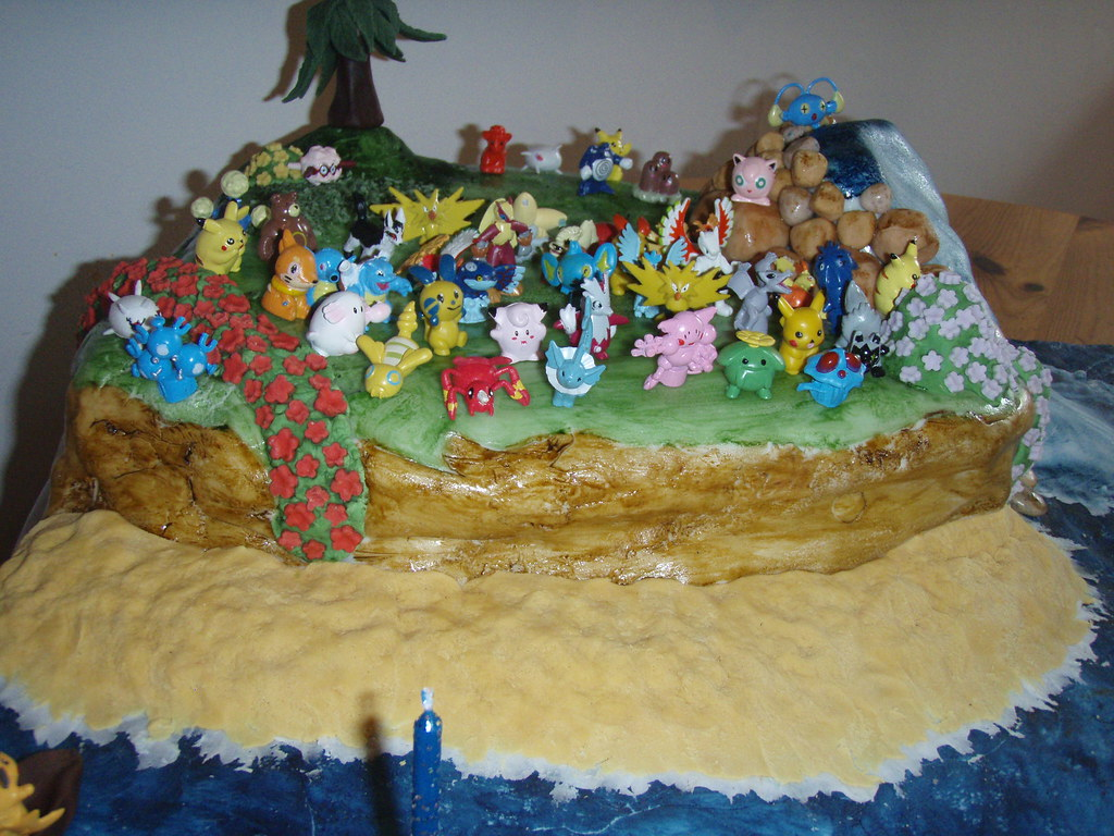 Pokemon Birthday Cake The Sandy Beach Looked Really Good