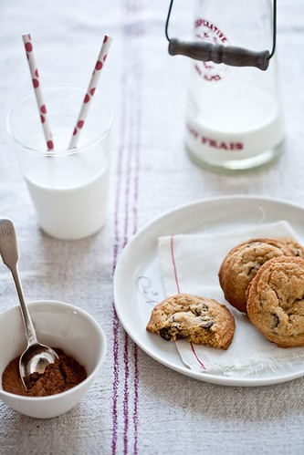 A Handful Of Cookies & A Glass Of Milk | by tartelette