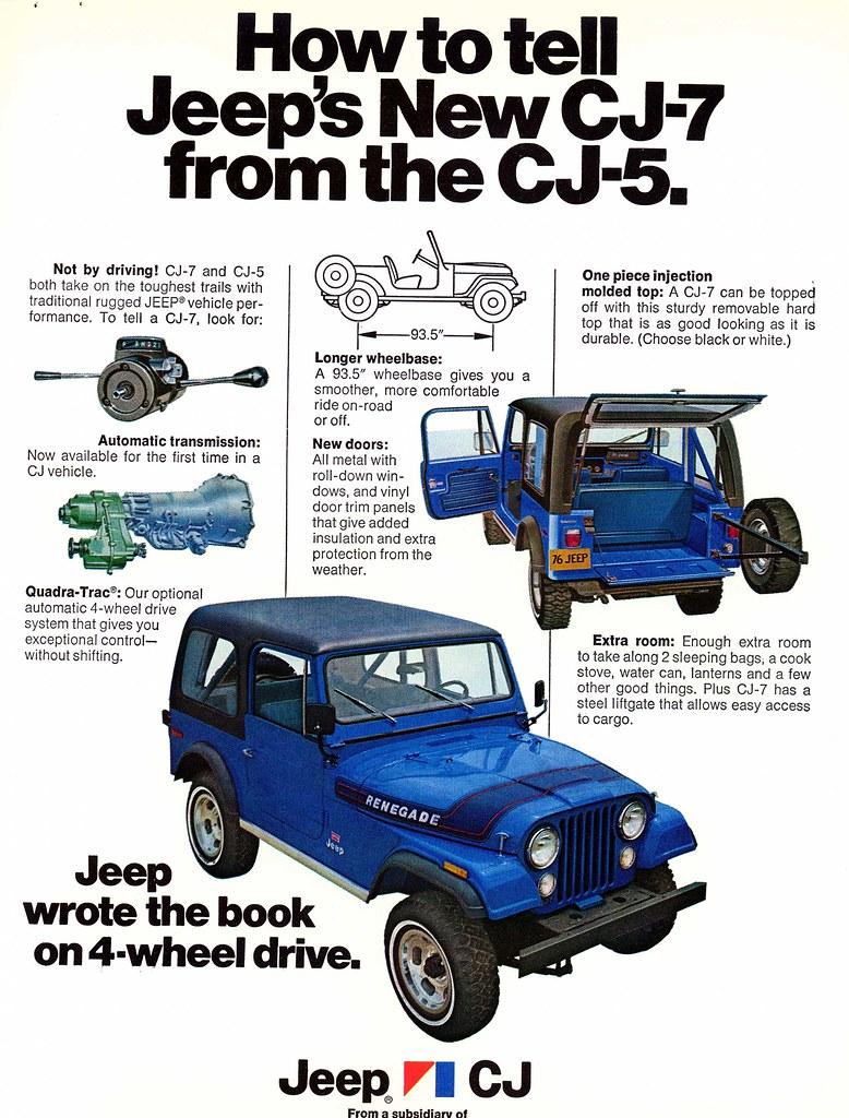 1976 Jeep Cj7 Vs Cj5 Identification Ad How To Tell The