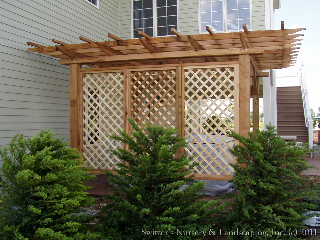 backyard pergolas patios lattice sreens for privacy