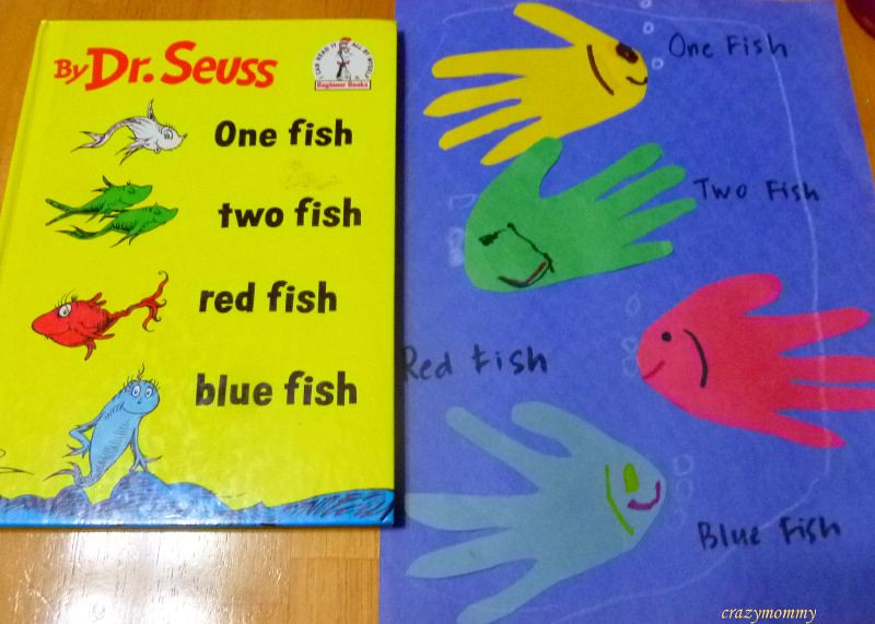 Dr seuss craft one fish two fish red fish blue fish c for Red fish blue fish dr seuss