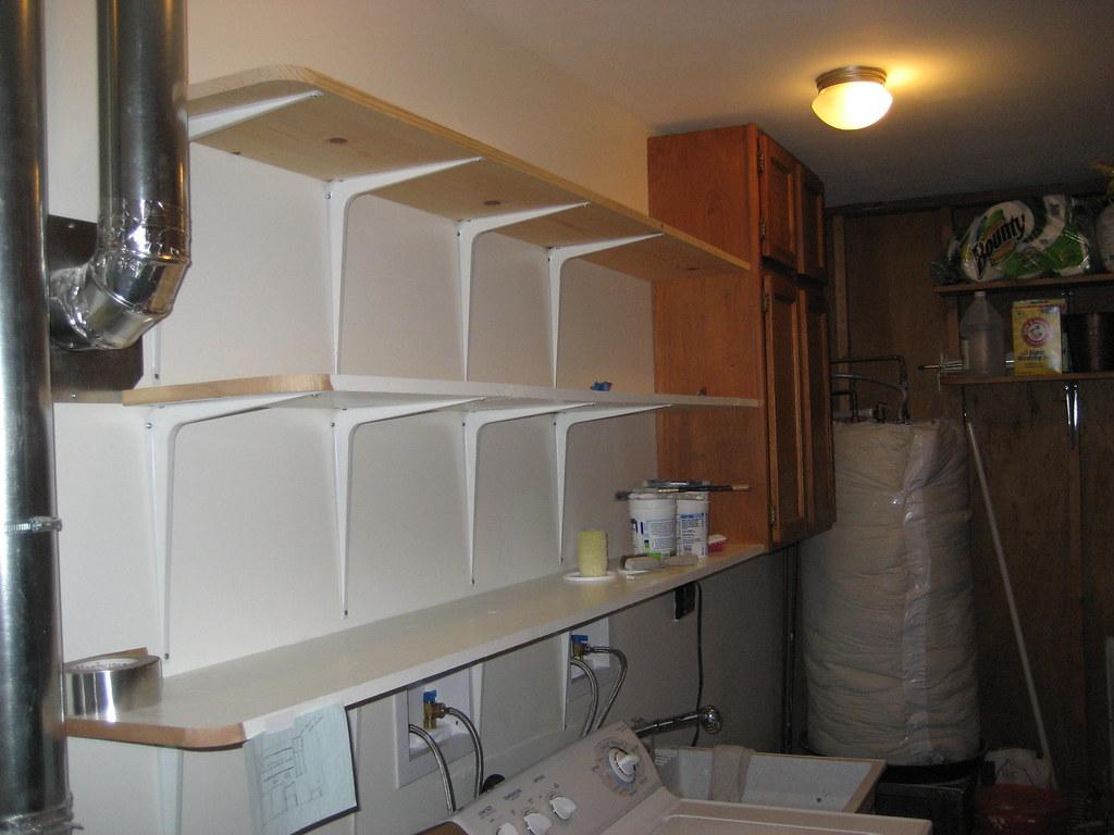 White Shelving Room Diider