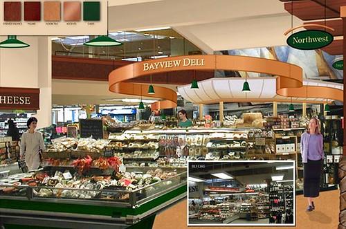 Market Conceptual Design Interior Grocery Store Design Deli Signage Interior Deli Section