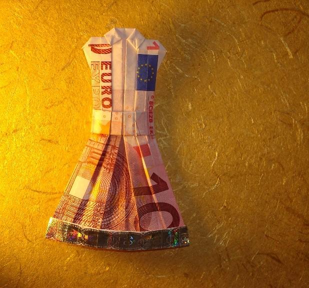 Origami Geld Kleid | Faltanleitung ist auf meine Seite vorha ...