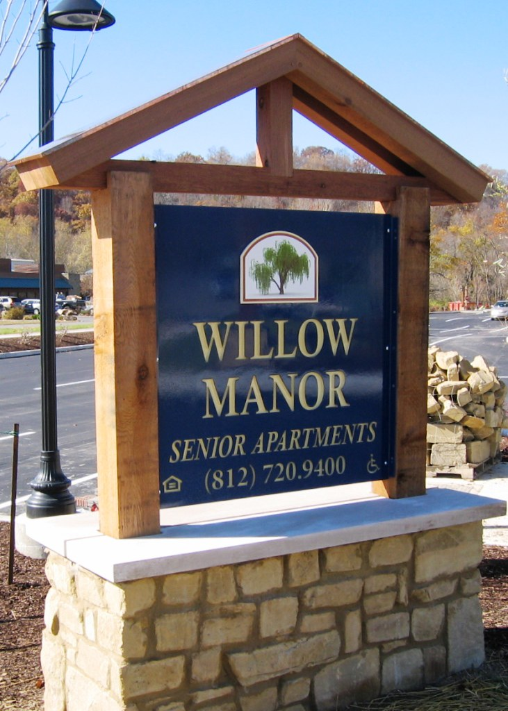 Willow Manor Senior Apartments Entry Monument Since 1987