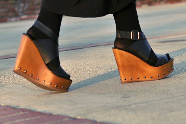 Wedge Shoes That Go With A Leopard Print Wiggle Dress