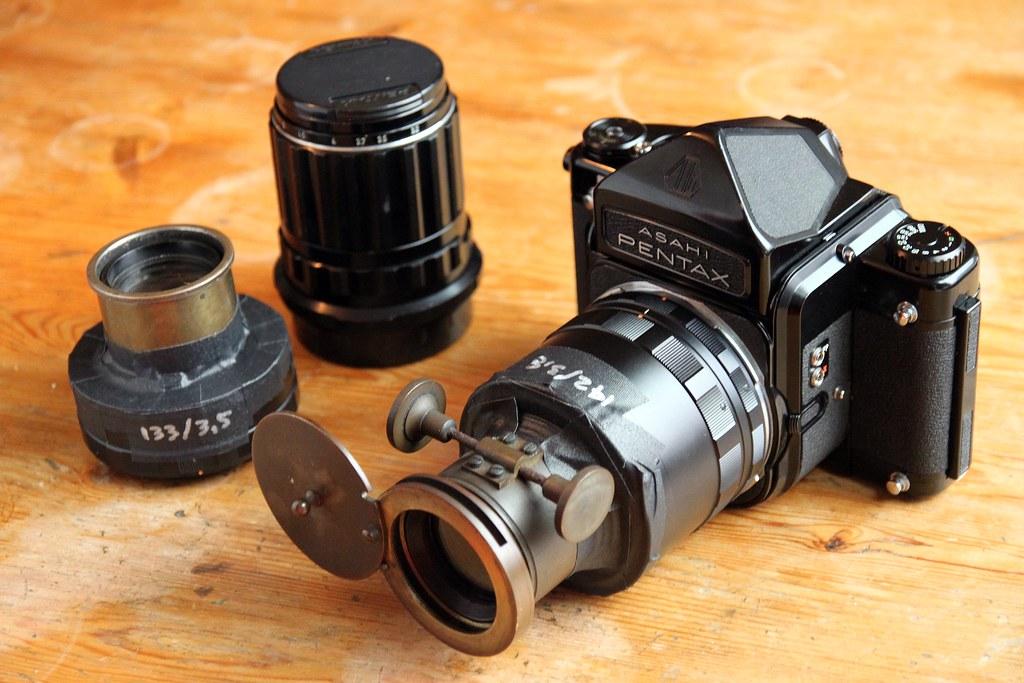 Pentax smc takumar reflex 67 1000мм f/80