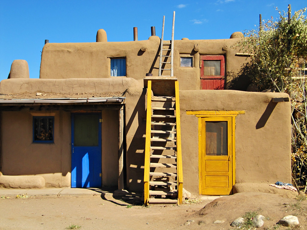 Blue Front Door Colorful Front Doors In The Taos Pueblo New Mexico Usa