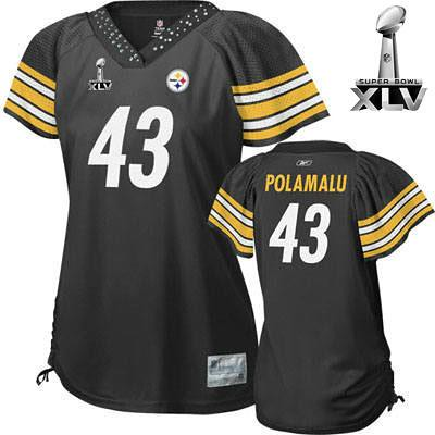 Pittsburgh Steelers  43 Troy Polamalu Super Bowl 2011 Wome…  472f5c6b5