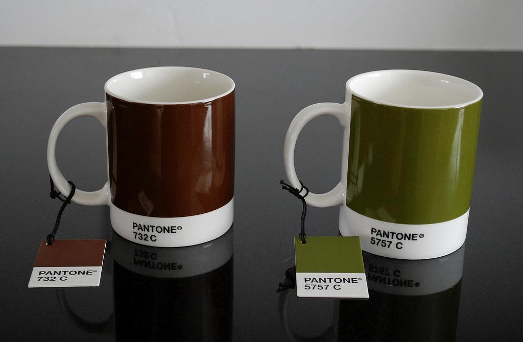 New Pantone Chip Coffee Mugs From Progress, San Diego CA ...