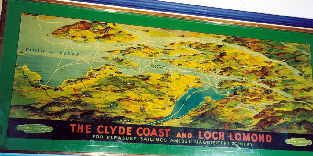 Wall Map Of The Clyde Coast And Loch Lomond Originally