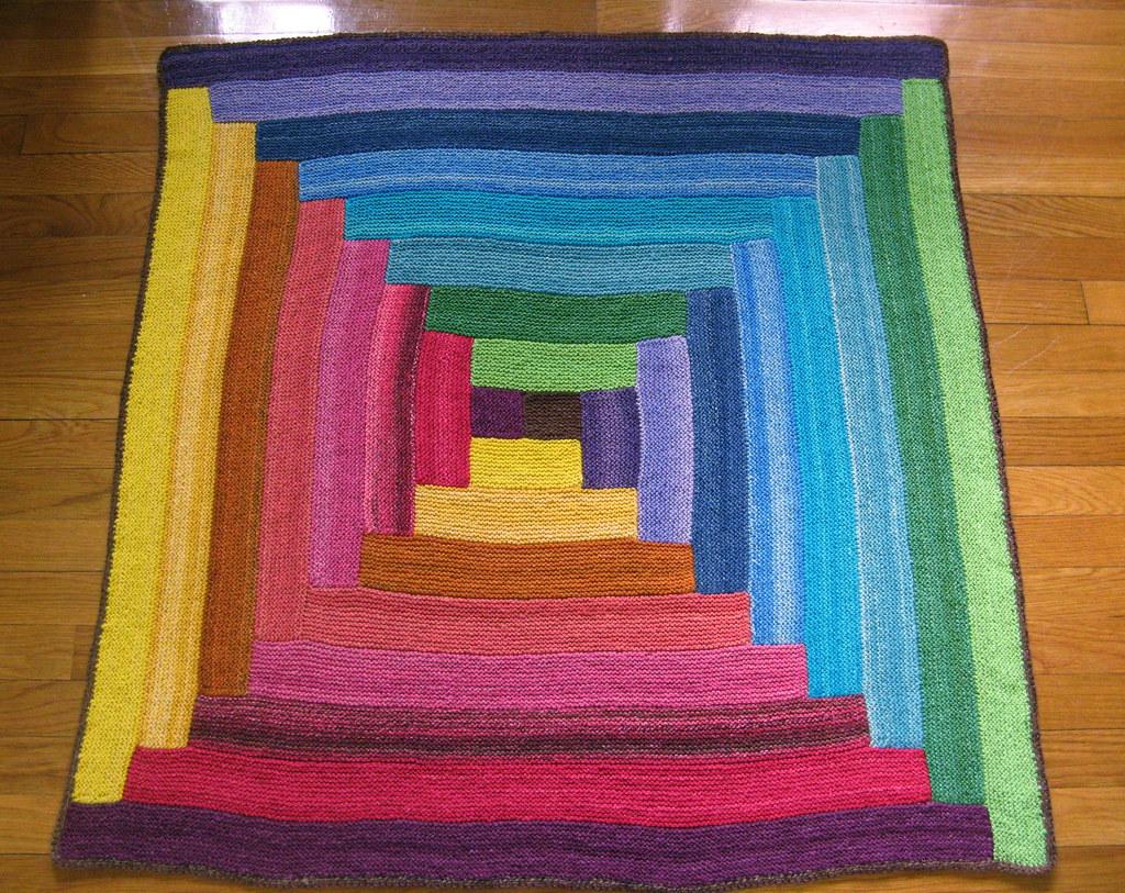 Baby 39 s handspun rainbow log cabin blanket the blanket is for Log cabin blanket