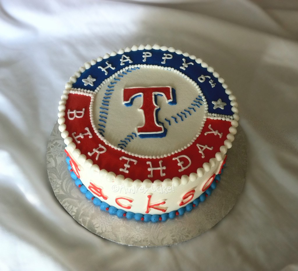 Texas Rangers Birthday Cake