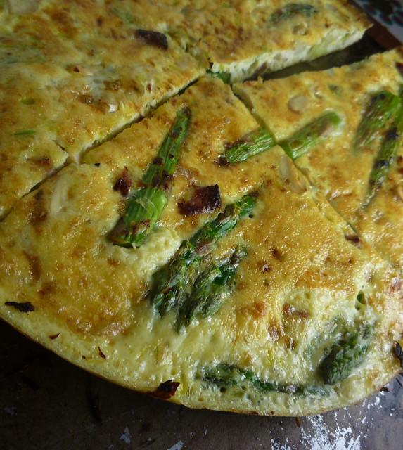 Asparagus And Mushroom Frittata Recipe — Dishmaps