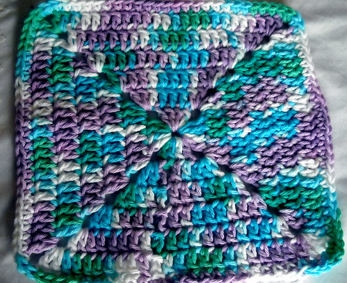 Crochet Granny Square Dishcloth Pattern : Crocheted Dishcloth #3 Flickr - Photo Sharing!