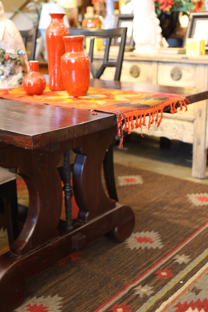 Reclaimed Wood Trestle Dining table Mortise and Tenon Cust