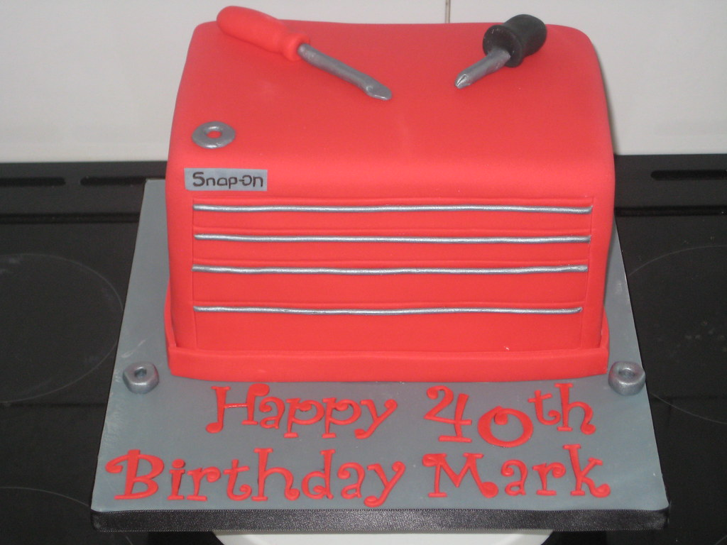 Snap On Tool Box Cake Kelly Warren Flickr
