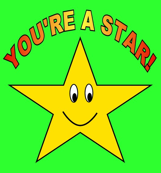 You're a Star on green clipart sketch , 15 cm | This ...