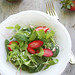 Spinach and Radish Sprout Salad