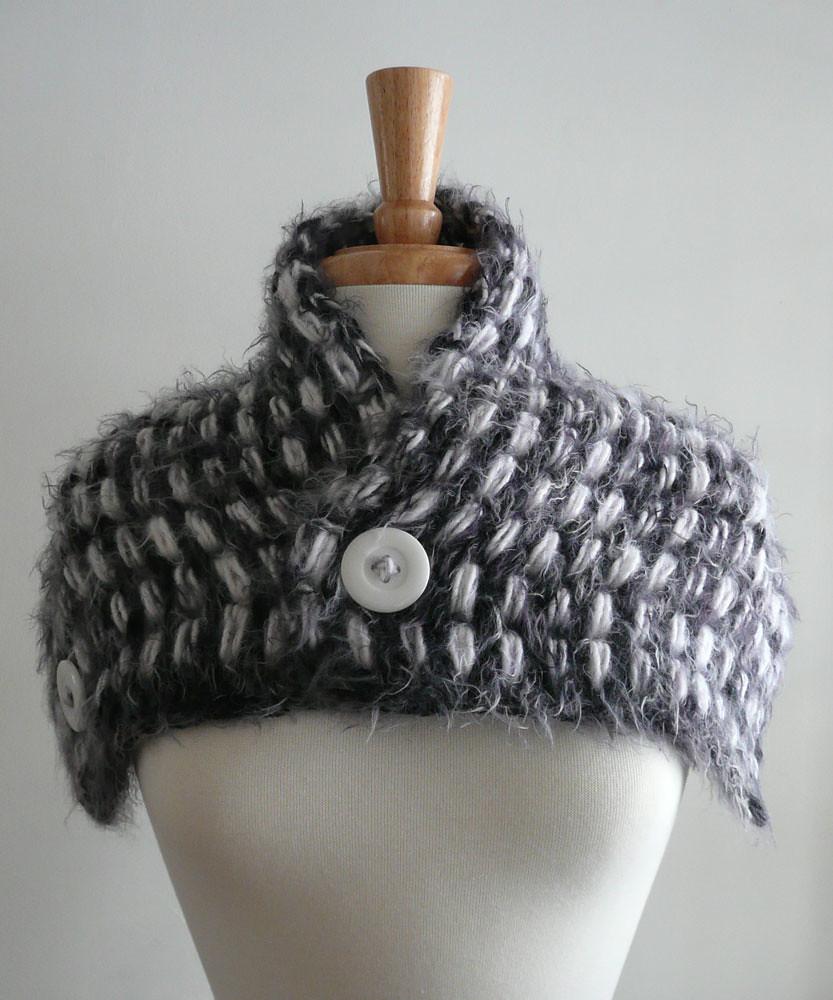 Free Crochet Convertible Cowl Pattern : convertible cowl collar caplet scarf 2 tunisian crochet ...