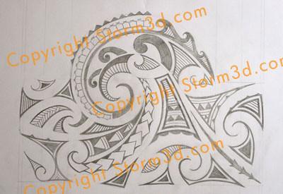 tatoo mauri pencil sleeve design mark storm flickr. Black Bedroom Furniture Sets. Home Design Ideas