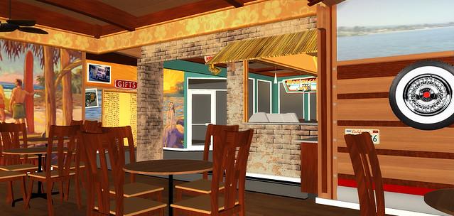 Cafe design rendering restaurant d decor