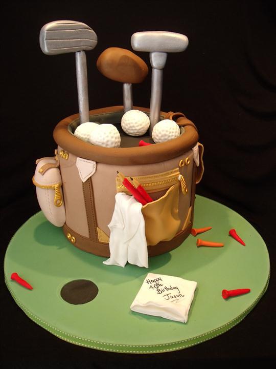 Fondant Golf Cake Design : Golf bag cake inspired by the many wonderful golf bag ...