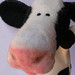 needle felted cow detail