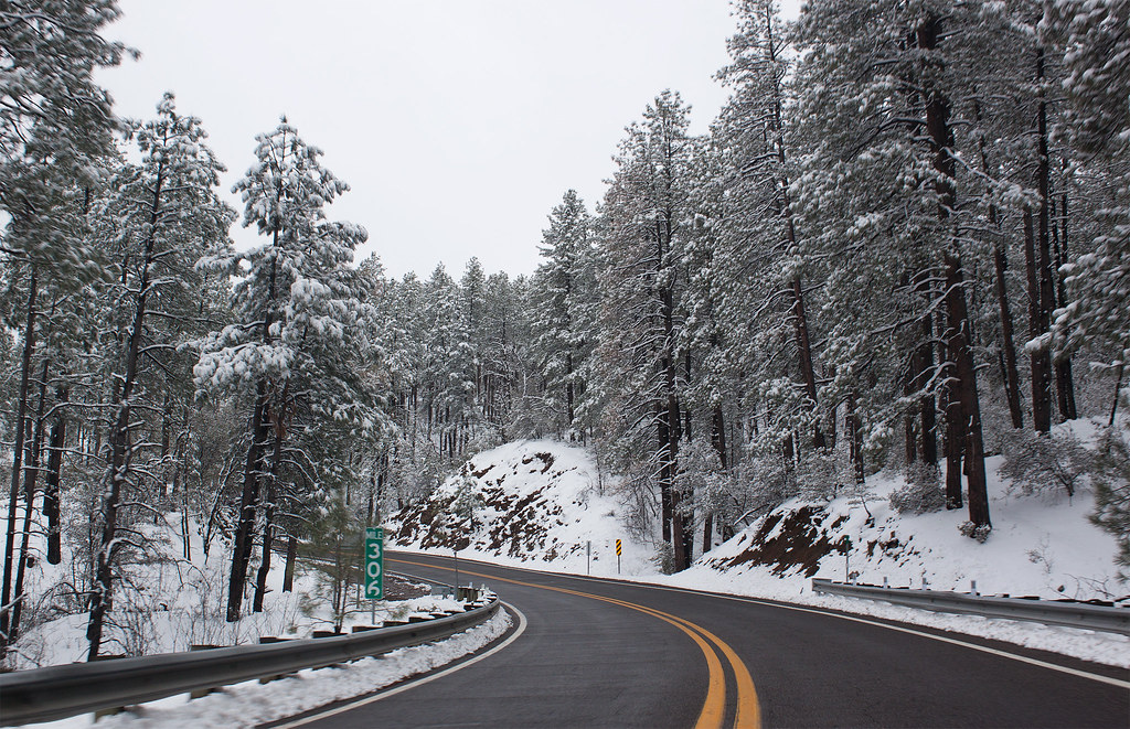 Arizona State Route 89 In The Snow 3 Pictures From The