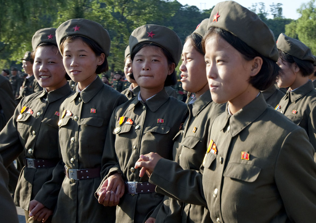 Smiling Army Girls - North Korea  I Was Surprised To See -4770