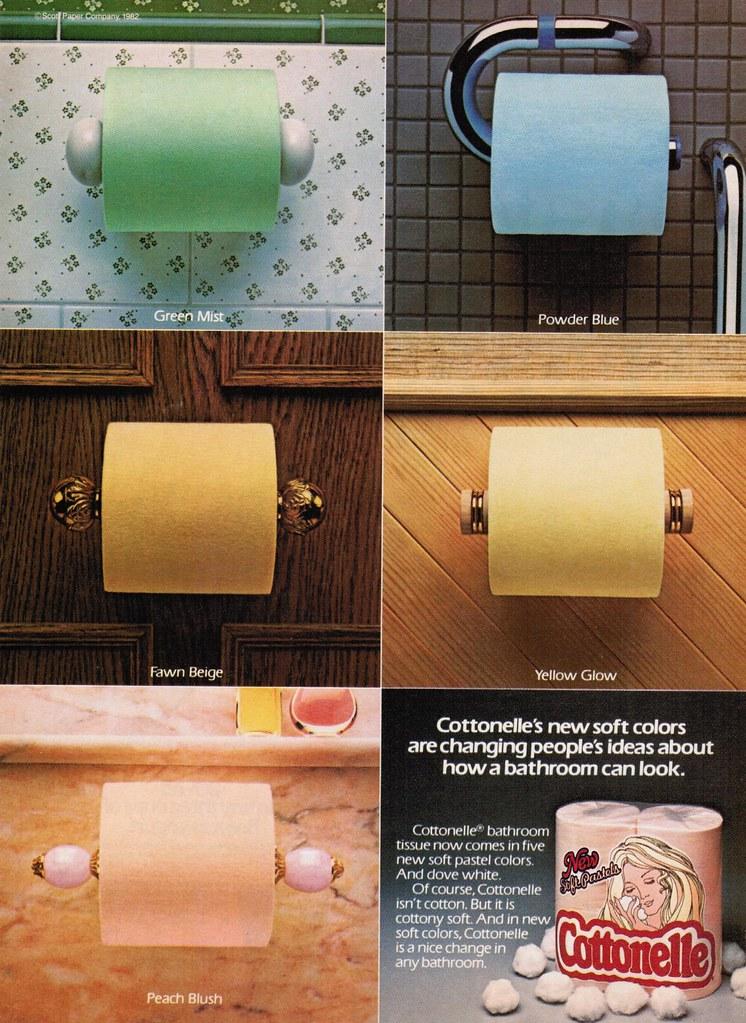Colored Toilet Paper Ad 1982 A Cottonelle Toilet Paper