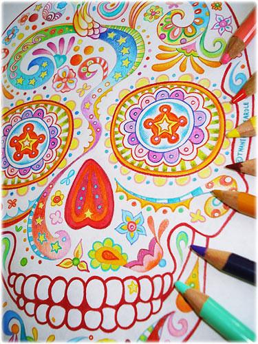 sugar skull coloring pages thaneeya - photo#22