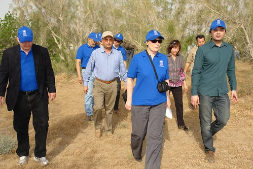 Helen Clark travels to Bokurdak village 100 km north of Ashgabat to visit a UNDP project that combats desertification | by UNDP in Turkmenistan