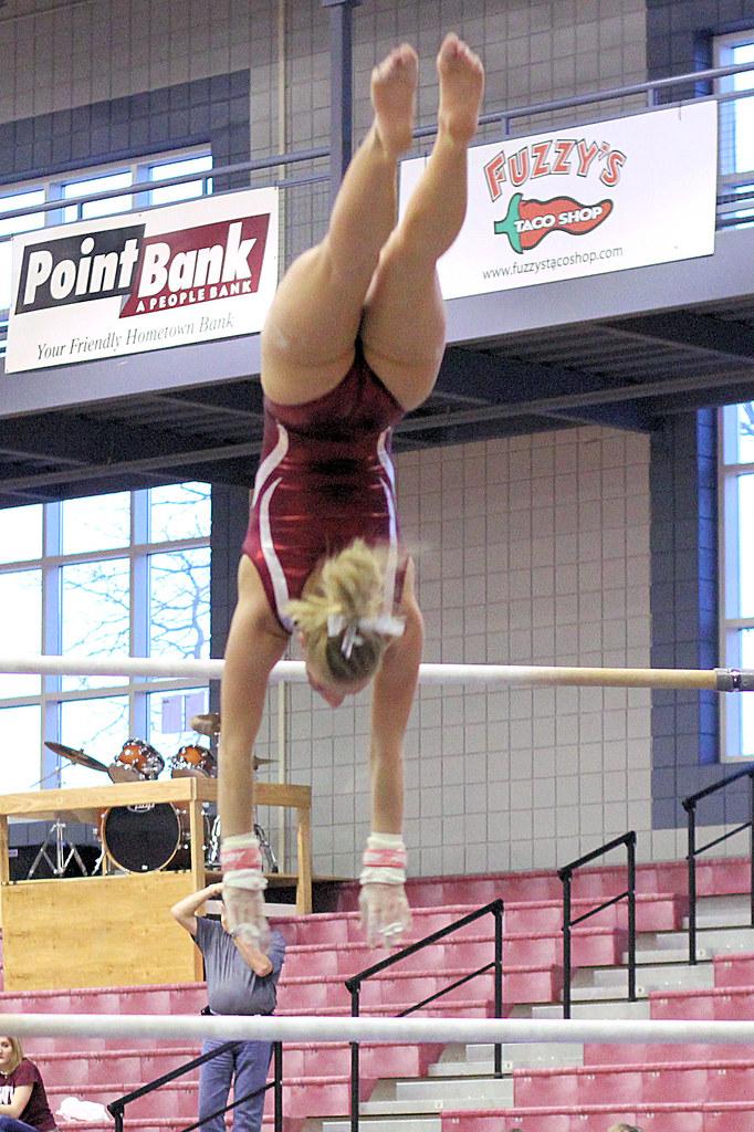 Twu Gymnastics Bars Brittany Johnson February 26