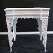 4158 WHITE ORNATE DECORATIVE TABLE