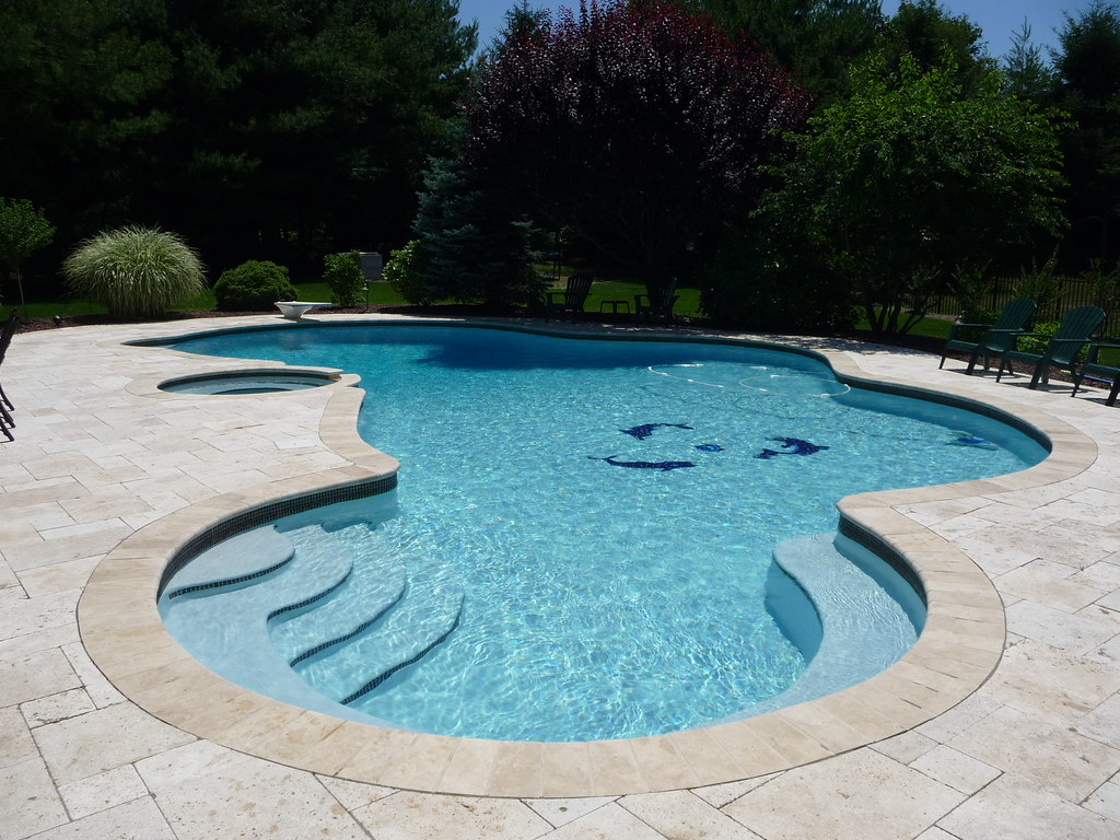 Professional custom inground pool design free form shape for Inground swimming pool plans
