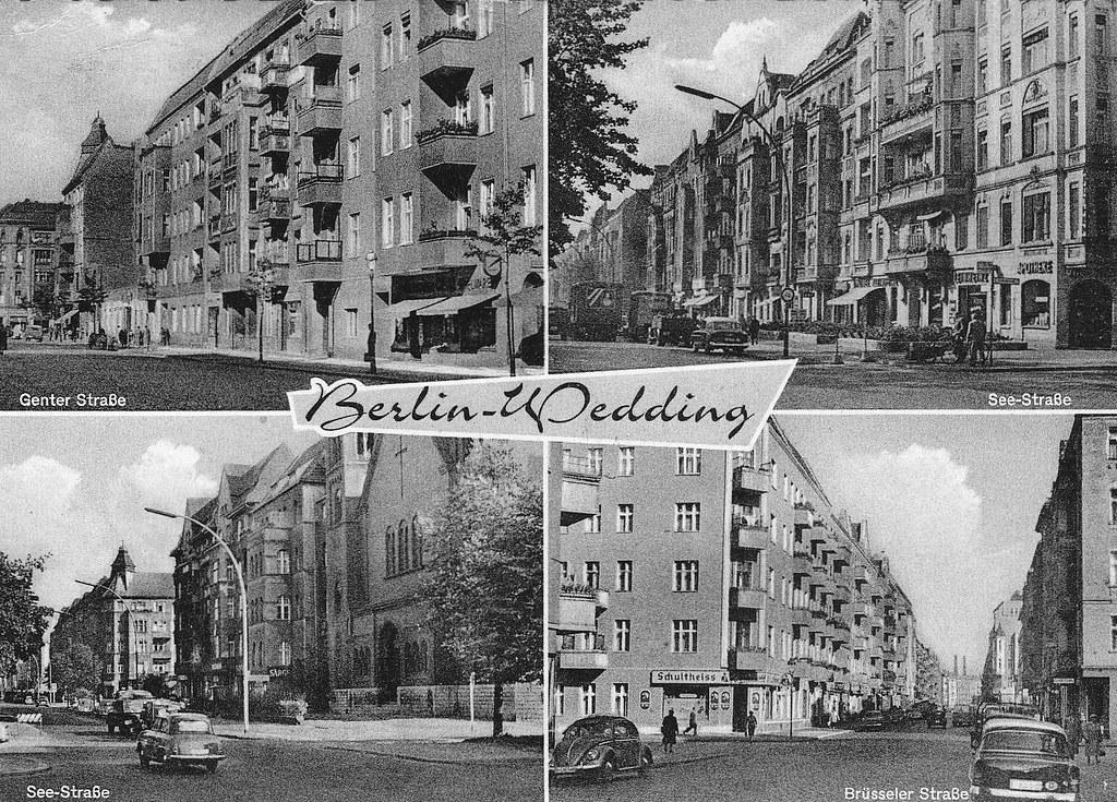 berlin wedding 1960 historische ansichtskarte schreib flickr. Black Bedroom Furniture Sets. Home Design Ideas