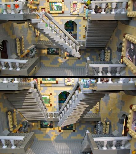 Hogwarts Moving Stairs Detail