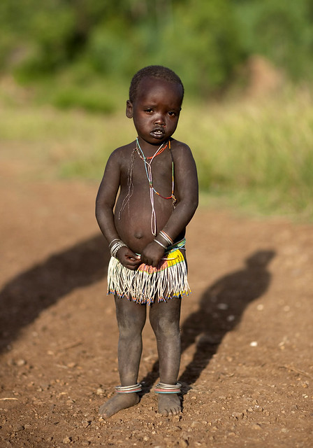 Naked African Baby With A Loin Cloth