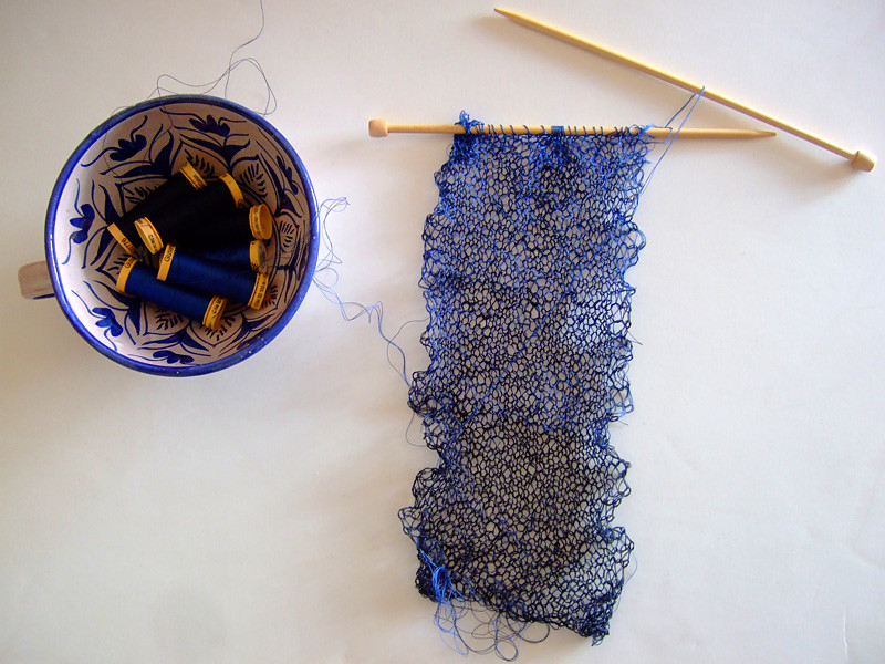 Knitting Threads : Knitting with embroidery thread makaroka