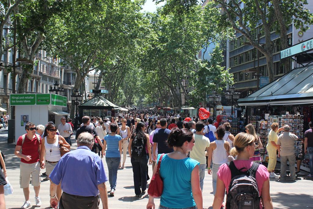 La rambla barcelona mathieu marquer flickr for B b barcellona vicino ramblas
