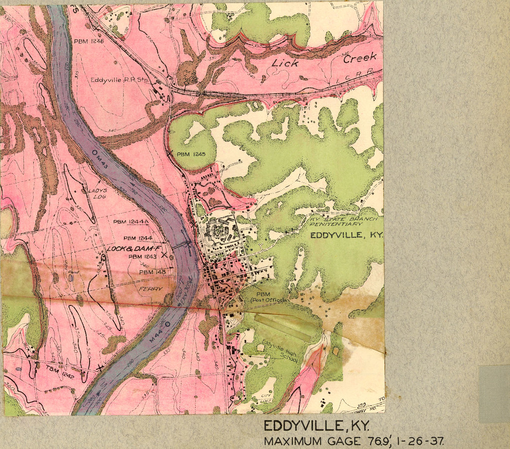 Cumberland River Flood 1937 Eddyville Kentucky US Arm Flickr