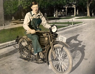 Noel Anderson on motorcycle about 1925-1930 | by djjedimaster79