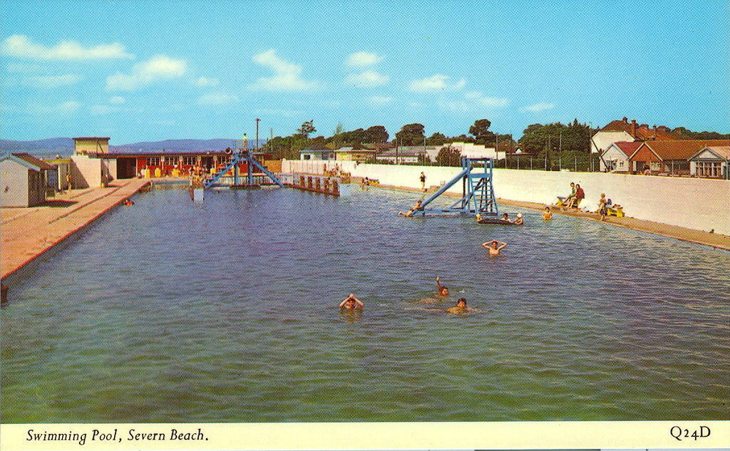 Severn beach swimming pool swept away long ago the for Pool show in long beach
