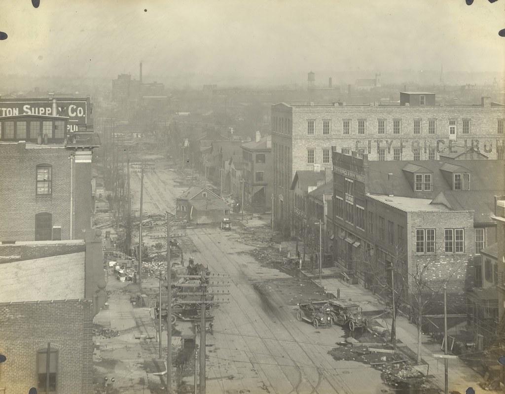 Aerial View Dayton Oh 1913 Flood Aerial View Dayton